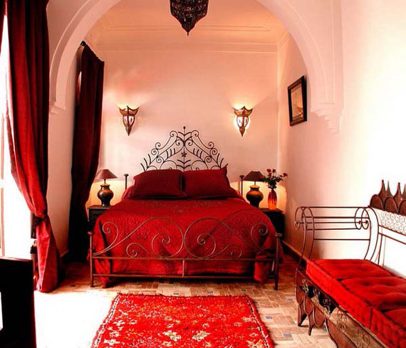 دکوراسیون اتاق خواب قرمز,دکوراسیون اتاق خواب قرمز مشکی,دکوراسیون اتاق خواب قرمز و سفید