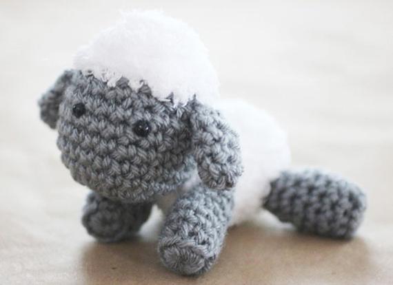 آموزش عروسک قلاب بافی گوسفند,عروسک قلاب بافی گوسفند,عروسک قلاب بافی