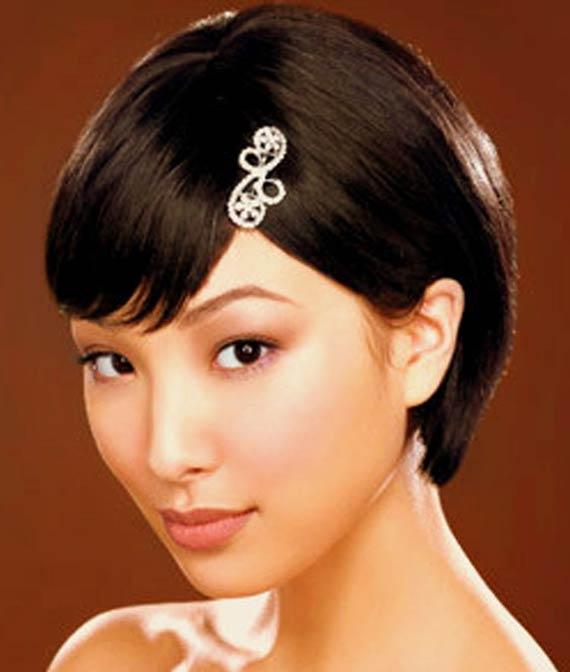 مدل آرایش مو برای موهای کوتاه,مدل آرایش موی کوتاه زنانه,مدل آرایش با موی کوتاه,شینیون موی خیلی کوتاه