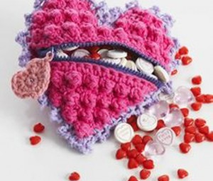 قلاب بافی به شکل قلب,عکس قلب بافتنی,قلب بافتنی, انواع قلب بافتنی