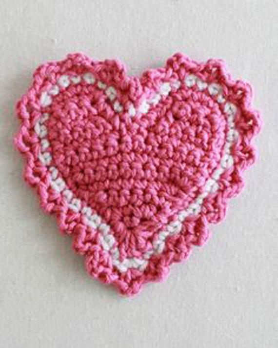 بافتنی قلب والنتاین,بافتنی قلب,قلاب بافی به شکل قلب,قلاب بافی طرح قلب