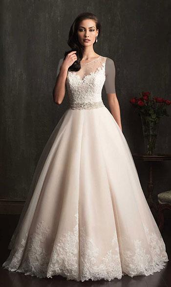 لباس عروس دامن پف?