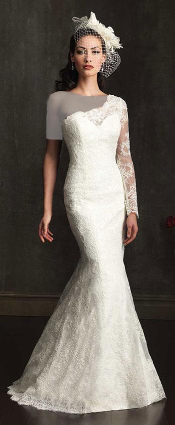 لباس عروس تک آستین